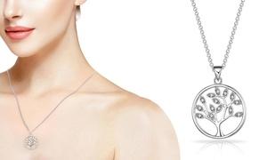(Bijou)  Collier pendentif cristaux Swarovski® -76% réduction