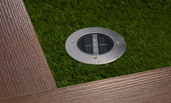 Solar Powered Round In-Ground LED Deck Light