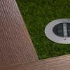 Solar Powered Round In-Ground LED Deck Light
