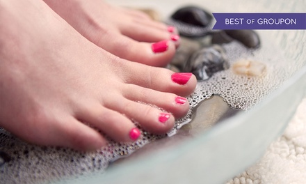 $45 for One Hot-Stone Pedicure at W Nails & Spa ($70 Value)