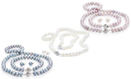 Conjunto de joyería Semi-Barroca con perlas por 19,90 € con caja de regalo por 12,90 € (hasta 93% de descuento)