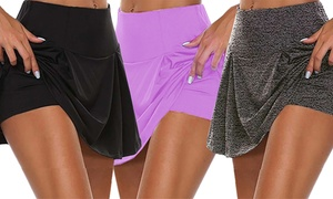 1 ou 2 jupes shorts fitness pour femme