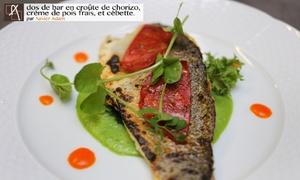L' Atelier gourmand: Middaglunch of 5 gangenmenu voor 2 of 4 personen vanaf 29,99€ bij restaurant l'Atelier Gourmand