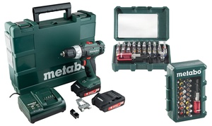 Metabo perceuse+Coffret d'embouts