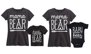 Mother and Infant 100% Cotton Printed Matching Tee and Bodysuit Set