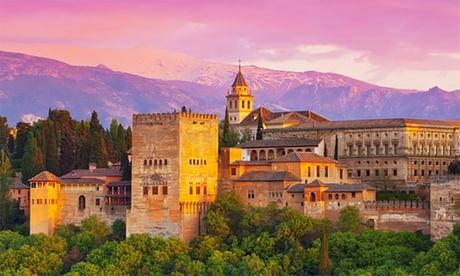 Granada: 1, 2, 3 o 5 noches en habitación doble para 2 personas con detalle y opción a desayuno y cena en Hotel Calderón