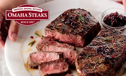 groupon.com - Grilling Packages from Omaha Steaks Stores (Up to 76% Off). Five Options Available.