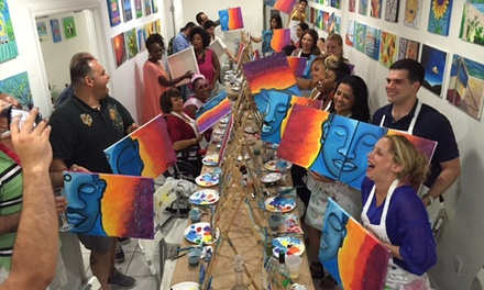 BYOB Painting Class for One, Two, or Four at Trazos Art Academy (59% Off)