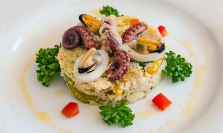 Menu di pesce con dolce e vino a 39,90€euro