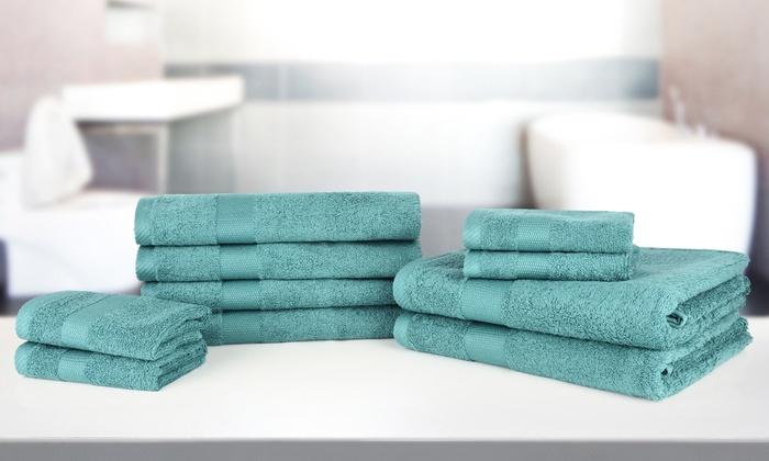 10 teliges handtuch set groupon. Black Bedroom Furniture Sets. Home Design Ideas