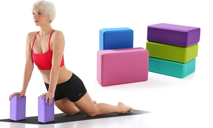$12 for Two Yoga Brick Blocks for Stretching and Exercise Don't Pay $38.49