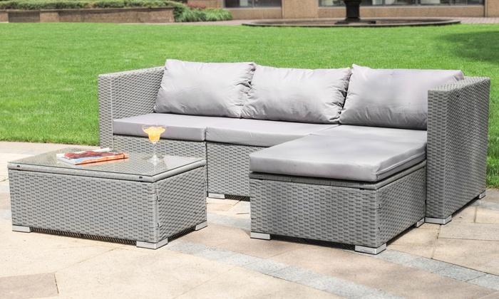 Davis and Grant Empire Rattan-Effect Corner Sofa Set (£249.98)