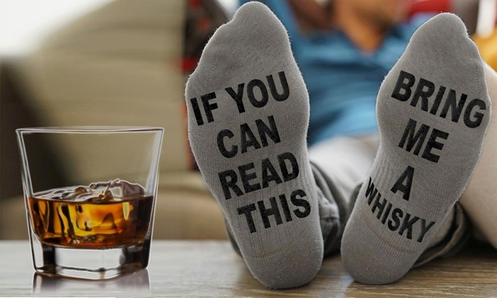 One, Two or Four Pairs of Bring Me Whisky Socks From £2.99