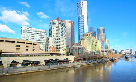 Melbourne, CBD: 2-, 3-, or 4-Night City Break for Up to Four People with Wine and Breakfast at 28 Southgate Apartments