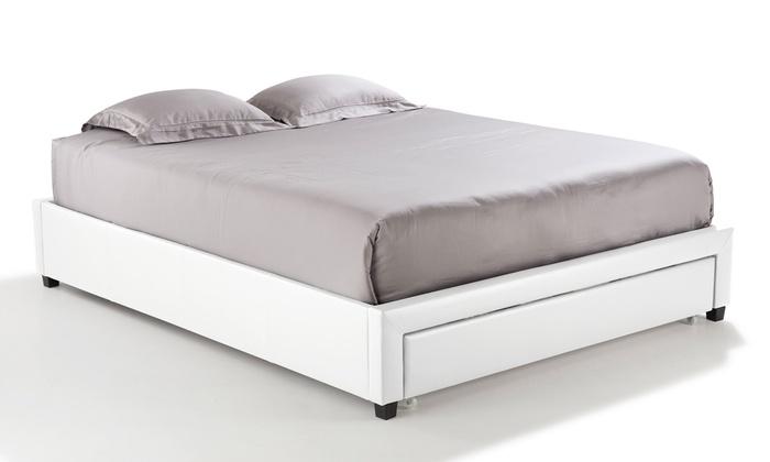 lit avec sommier int gr groupon shopping. Black Bedroom Furniture Sets. Home Design Ideas