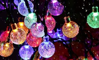 50 LED Multi-Coloured Solar Garden String Lights