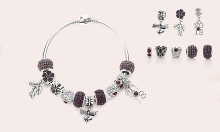 One, Two, or Three Sets of 2018 Charm Graduation Bracelet from Novadab (Up to 84% Off). Three Options Available.