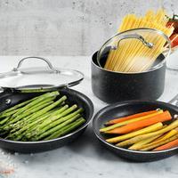 Deals on Granite Rock Nonstick Triple-Coated Cookware Set 5-Piece