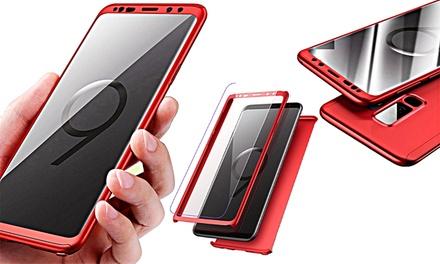 Cover Fronte Retro + Pellicola Schermo per vari modelli Samsung Galaxy disponibile in vari colori