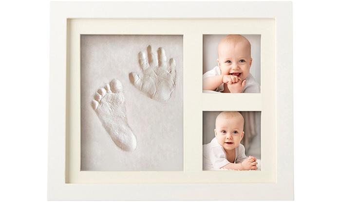 Cadre photo b b avec empreinte groupon - Cadre avec prenom bebe ...