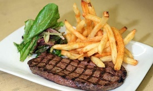 Banks Bistro: Steaks With Seasoned Fries For Two or Four at Banks Bistro