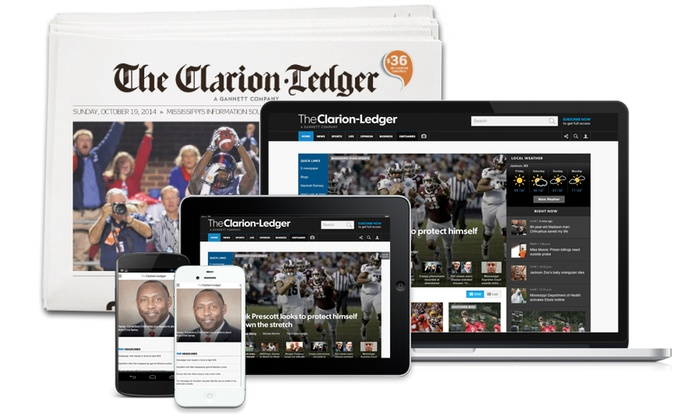 "The Clarion-Ledger: 26- or 52-Week Sunday Subscription, or 52-Week Digital Subscription to ""The Clarion-Ledger"" (Up to 81% Off)"