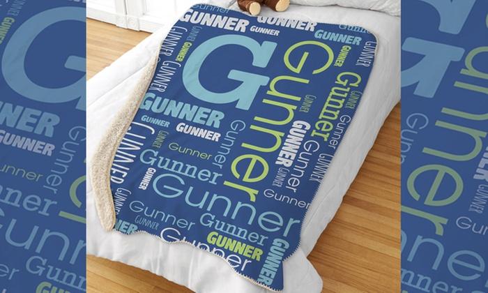 Custom Kids Sherpa Blanket | Groupon Goods