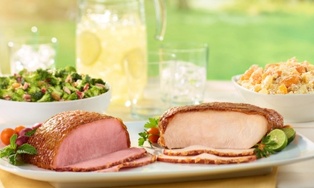 HoneyBaked Ham Dinner, Premium Boneless HoneyBaked Ham, or $30 for $50 at HoneyBaked Ham