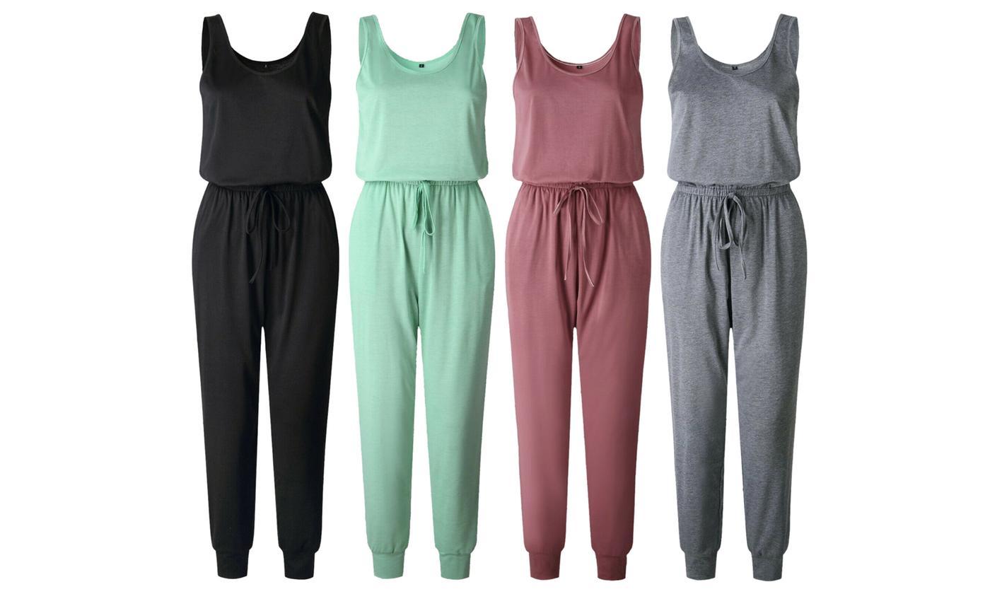 Women's Vested Loungewear Jumpsuit