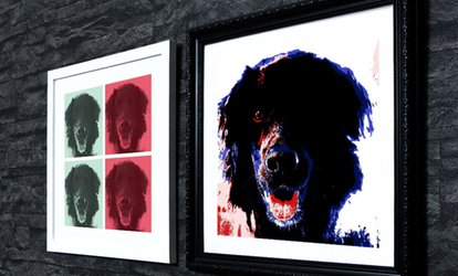 "image for One 10""x10"" or 15""x15"" Custom ""Upload Your Pets"" Framed Canvas Print from Mezoo (Up to 92% Off)"