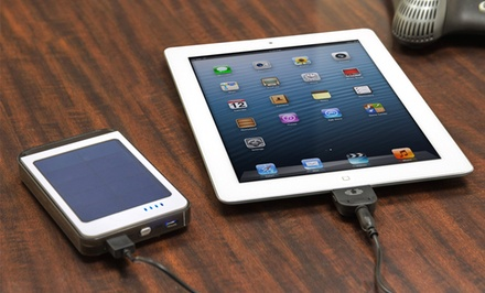 Ultra-High-Capacity 6,000mAh Solar-Powered USB Backup Battery with EcoPanel