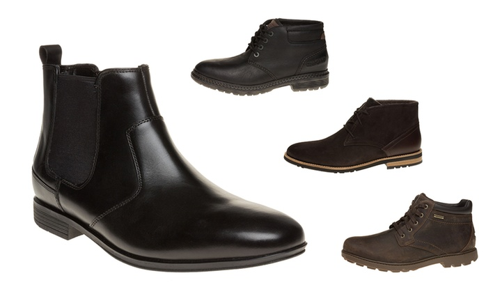 Men's Rockport Leather Boots from £44.99 With Free Delivery (Up to 61% Off)