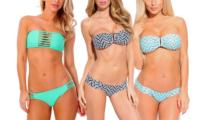 Dippin Daisy's Bandeau Bikini Sets