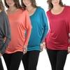 Women's Winged Long-Sleeve Dolman Top