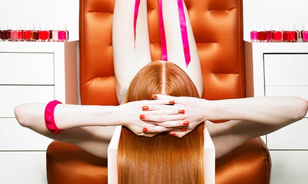 Spa Mani-Pedi, Gel Manicure, or Gel Manicure and Spa Pedicure at Rita Hazan Salon (Up to 53% Off)
