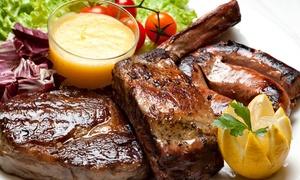 Bi Steak House: Menu con 1 o 2 kg di grigliata di carne e 2 litri di birra per 2 o 4 persone alla Steak House Bi (sconto fino a 72%)