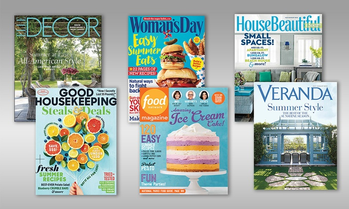 Food and home decor magazines hearst magazines groupon Free interior design magazine subscriptions