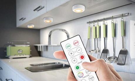 Pack de 3, 6 o 12 luces inalámbricas LED de 16 colores con control remoto