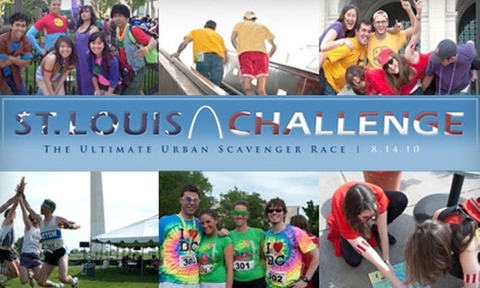 St. Louis Challenge - Downtown St. Louis: $25 to Participate in the St. Louis Challenge: The Ultimate Urban Scavenger Race on August 14 ($70 Value)