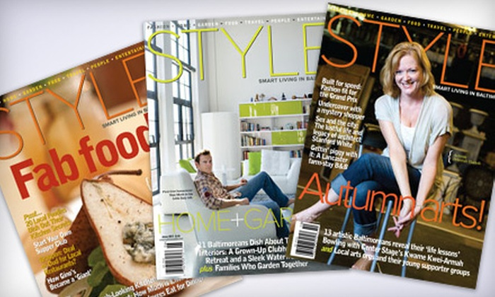 Style Magazine: One or Two Year Subscription to Baltimore Style Magazine