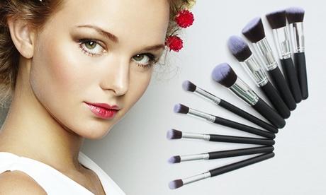 Set de 10 brochas de maquillaje Kabuki