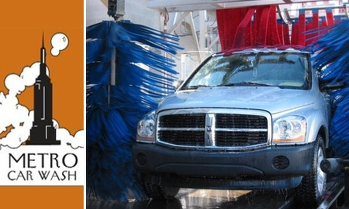 Metro Car Wash - Multiple Locations: $14 for a Car Wash and Hand Wax at Metro Car Wash