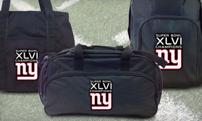 Concept One Accessories: Embroidered NFL Champion Backpack, Tote Bag, or Duffel Bag from Concept One Accessories (Up to 52% Off). Three Options Available.