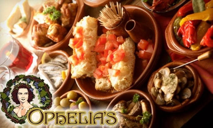 Ophelia's - Springfield MO: $10 for $20 Worth of Tapas and Wine at Ophelia's