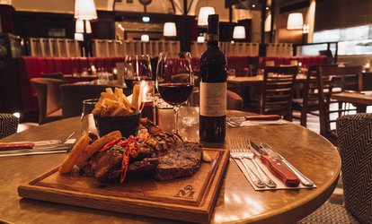 Two-Course Steak Meal with Wine for Up to Four at Middletons Steakhouse & Grill(Up to 44% Off)