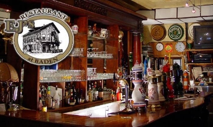 EJ's at Baden - Baden: $10 for $20 Worth of Classic Pub Fare and Drinks at EJ's At Baden