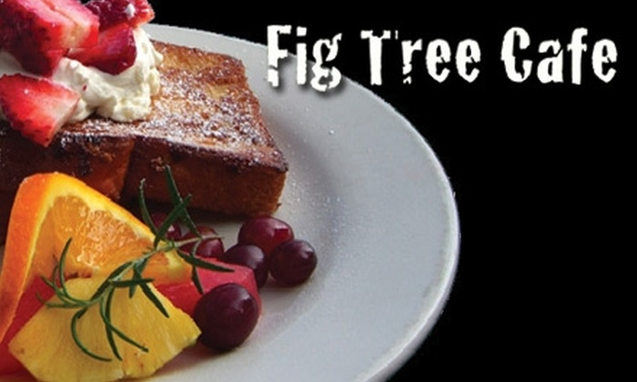 Fig Tree Cafe - Pacific Beach: $9 for $20 Worth of Breakfast and Lunch Fare at Fig Tree Cafe, or $5 for $10 Worth of Treats at Fig Tree Cafe's Coffee Shop