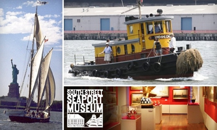 South Street Seaport Museum - Financial District: $25 for a Land and Sea Pass and a Schooner or Tugboat Ride at South Street Seaport Museum