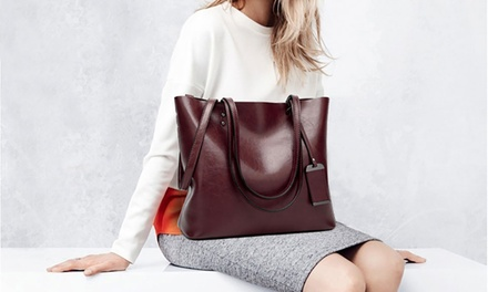 Leather Top Handle Bag in Choice of Colour