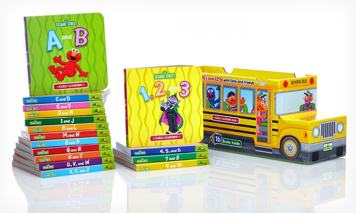 Sesame Street ABCs and 123s 16-Book Bus: $19.99 for a Sesame Street ABCs and 123s with Elmo and Friends 16-Book Bus ($63.84 List Price). Free Shipping.